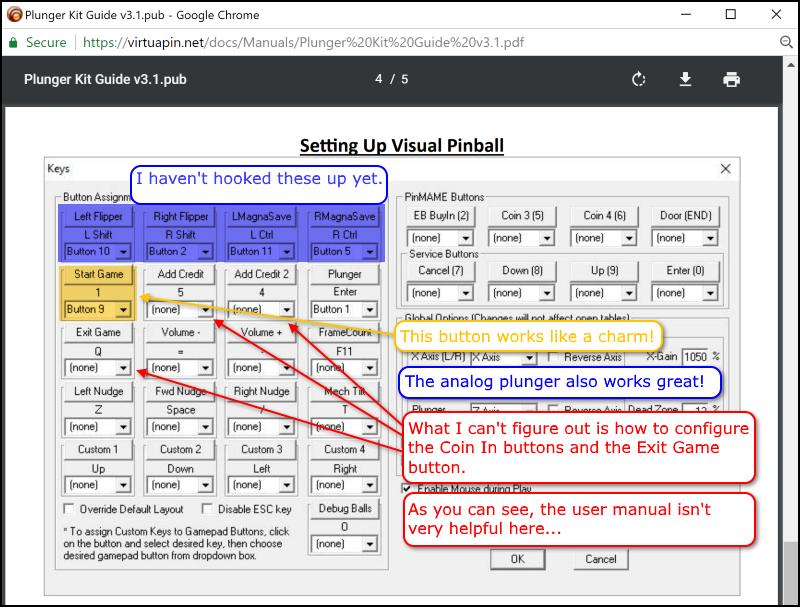 I need help configuring the Plunger Kit - VirtuaPin™ Digital